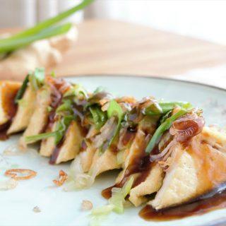 Gebakken tofu met oestersaus © mevryan.com