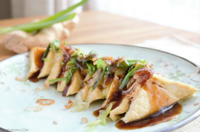 Recept gebakken tofu met oestersaus