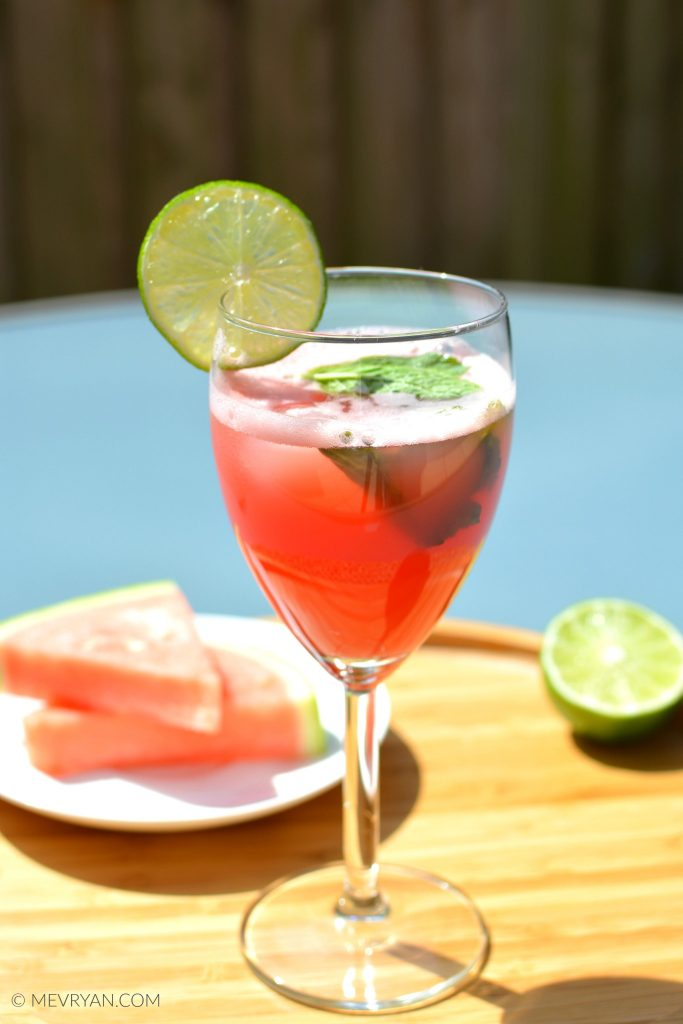 Foto glas watermeloen limoen sap (c) mevryan.com, Aziatische recepten