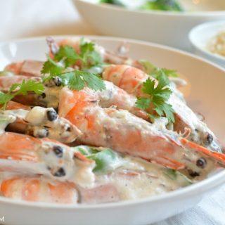 Foto garnalen in kokosmelk © MEVRYAN.COM, Aziatisch koken