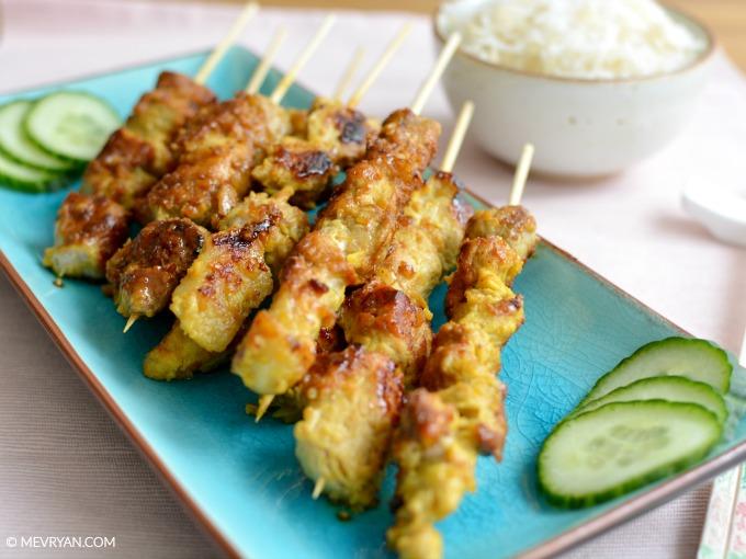 Maleisisch saté recept van Lai Xue Hong - Food blog © MEVRYAN.COM, Aziatisch koken