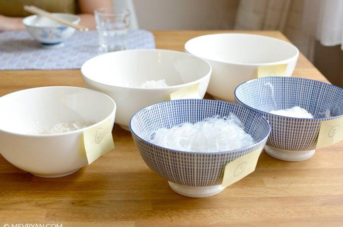 Foto smaaktest glas en rijst vermicelli, Food blog © MEVRYAN.COM