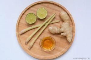 Foto ingrediënten Citroengras gember thee © MEVRYAN.COM, lekker Aziatisch koken
