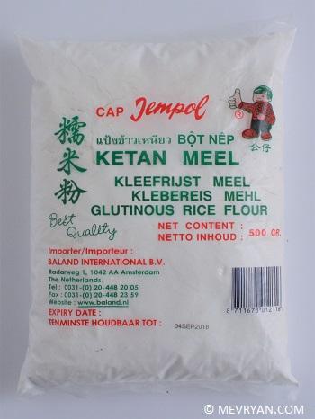 Foto Ketan meel / Kleefrijstmeel © MEVRYAN.COM - Aziatische recepten voor thuis