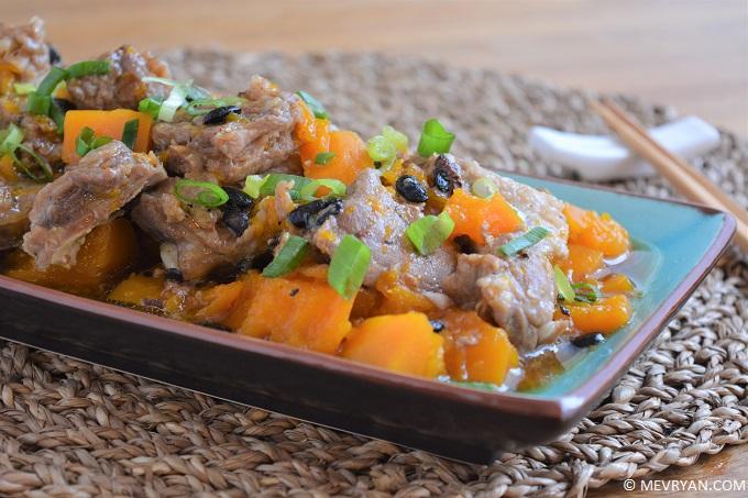 Ribs en pompoen met zwarte bonensaus © mevryan.com, lekker Aziatisch koken