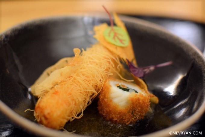 Foto Tempura garnaal en inktvis van Japans restaurant Yama in Rotterdam © mevryan.com
