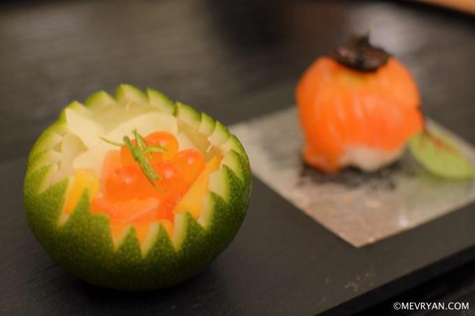 Amuse van zalm, Japans restaurant Yama in Rotterdam © mevryan.com
