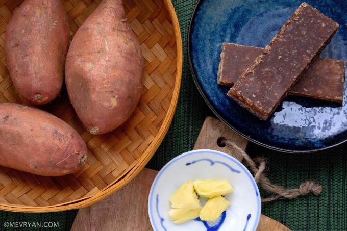 Foto zoete aardappel dessertsoep, ingrediënten © mevryan.com