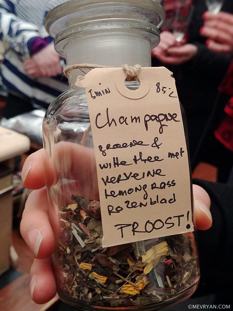 Foto champagne thee melange van Inproc, Den Haag © mevryan.com