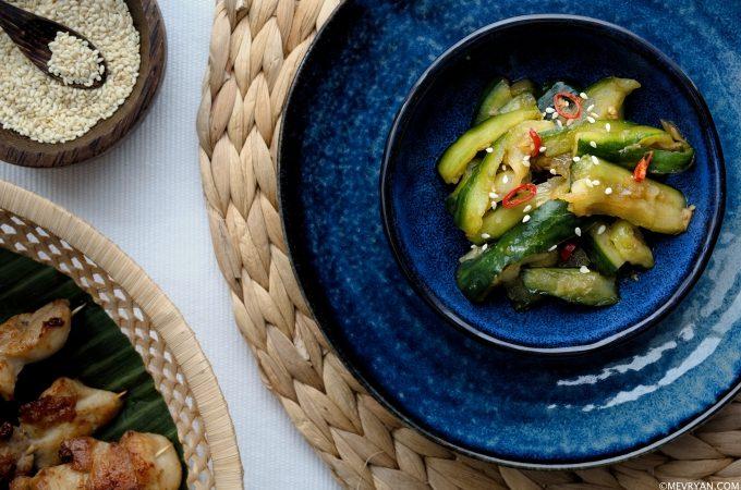 Zoetzure komkommersalade