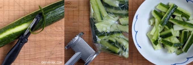 Foto komkommersalade maken © mevryan.com