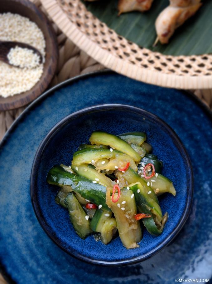 Foto zoetzure komkommersalade © mevryan.com
