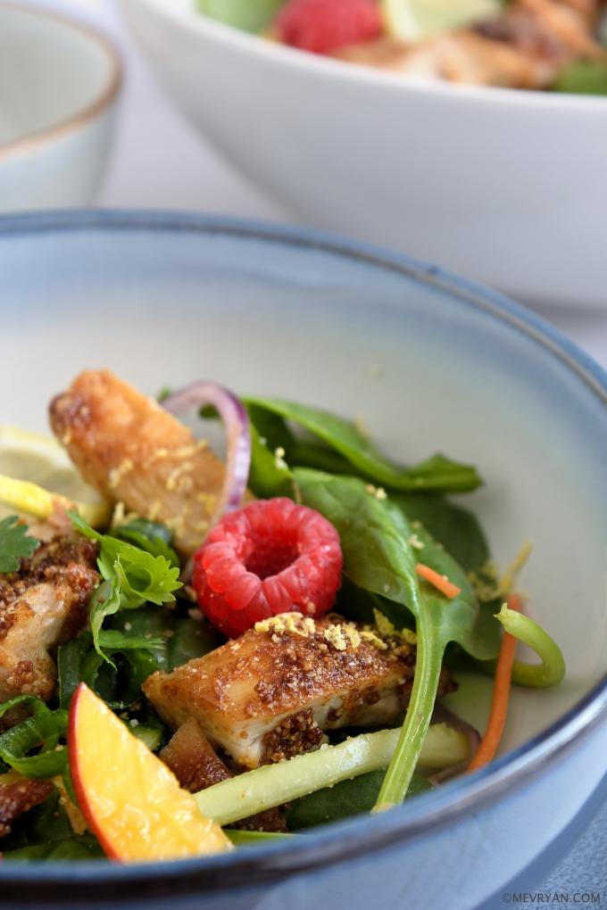 Foto Thaise kip frambozen salade © mevryan.com
