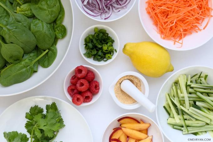 Foto ingrediënten Thaise salade © mevryan.com
