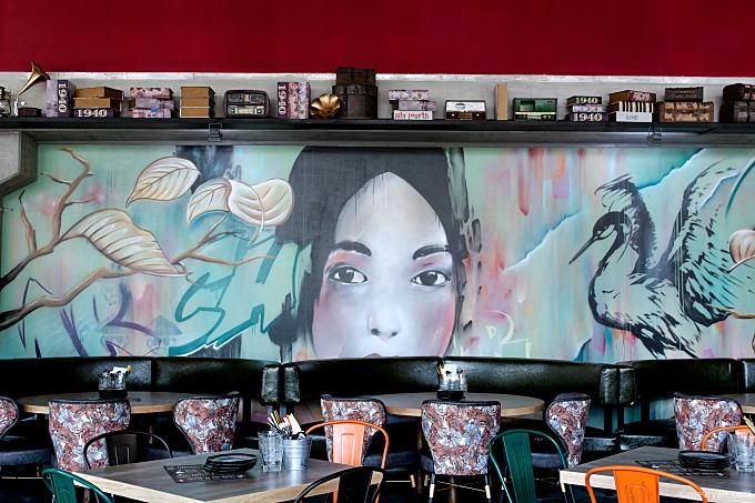 Foto street art muurschildering Mr. Chow, Schiedam. © mevryan.com