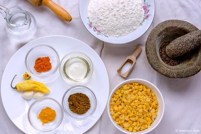 Foto roti vulling ingrediënten © mevryan.com