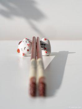 Foto Chinese eetstokjes houder © mevryan.com